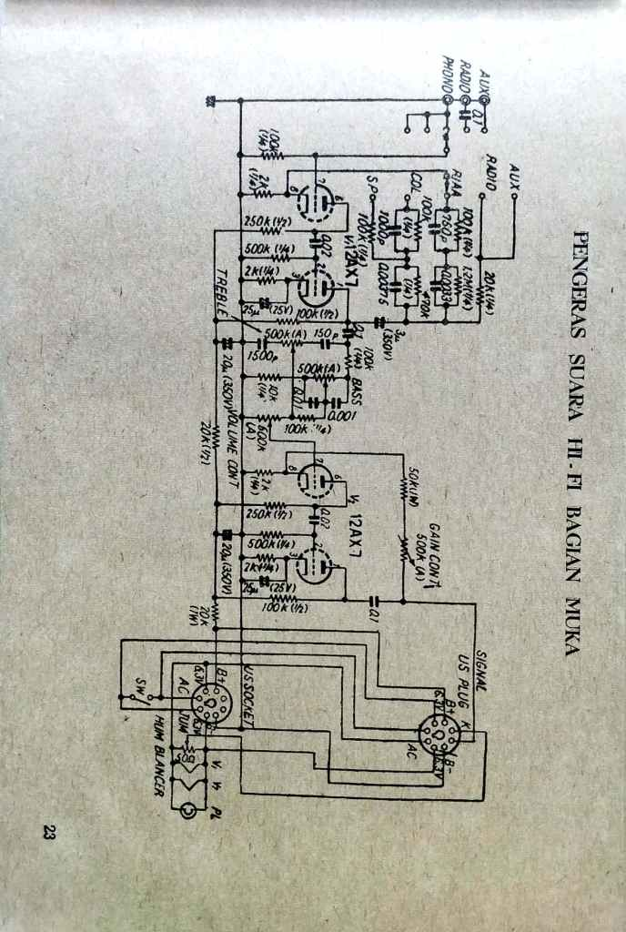 Tube 12X7 Preamp Hifi Schematic - Old Schematics