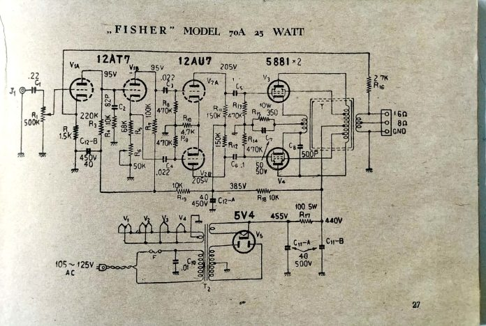 fisher 70 a amplifier