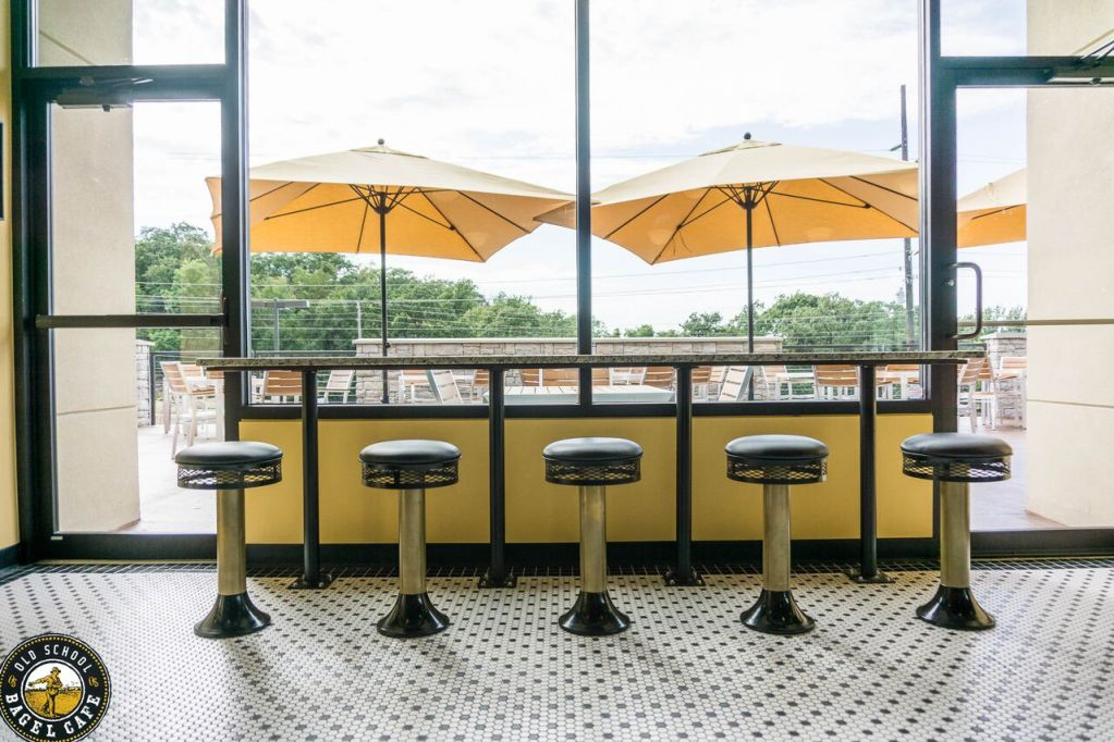 Counter with a view - Old School Bagel - South Tulsa (6805 S Yale Ave Tulsa, OK 74133)