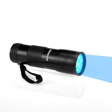 GridLite UV Blacklight Flashlight - Pet Urine Detector - Stain Detector - 12 UV LEDS