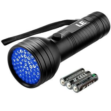 LE 51 LED UV Flashlight, Pet Urine and Stain Detector