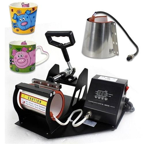 Smartxchoices 2 in 1 Auto Digital Display Mug Cup Heat