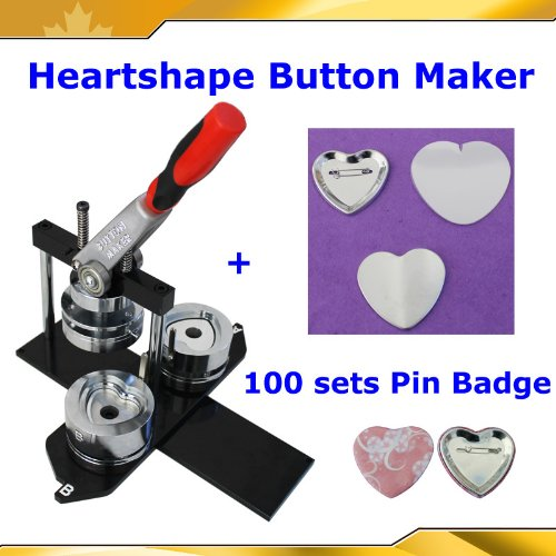 Badge Button Maker Kit! Heart Shape Machine