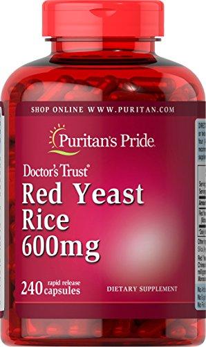 Puritan's Pride Red Yeast Rice 600 mg, Dietary Supplement, 240 Rapid Release Capsules