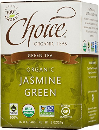 Choice Organic Teas Green Tea, Jasmine Green, 16 Count