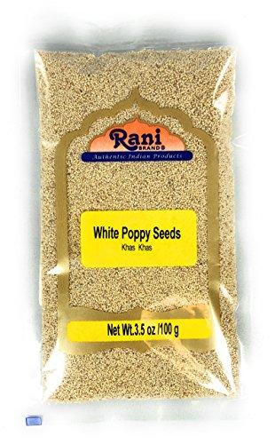 Rani White Poppy Seeds Whole (Khus Khus) Spice 3.5oz (100g)