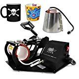Smartxchoices 2 in 1 Auto Digital Display Mug Cup Heat Press