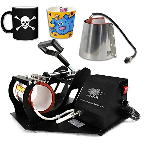 Smartxchoices 2 in 1 Auto Digital Display Mug Cup Heat Press