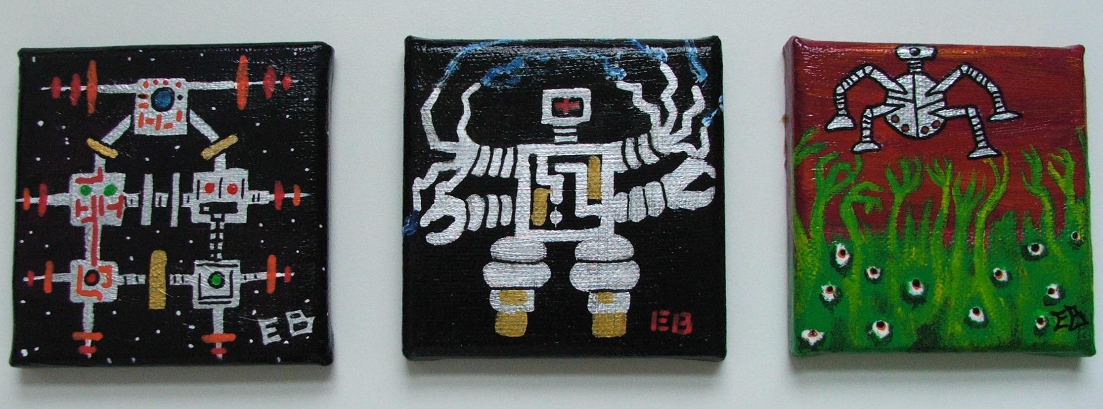 Robots #1 through 3