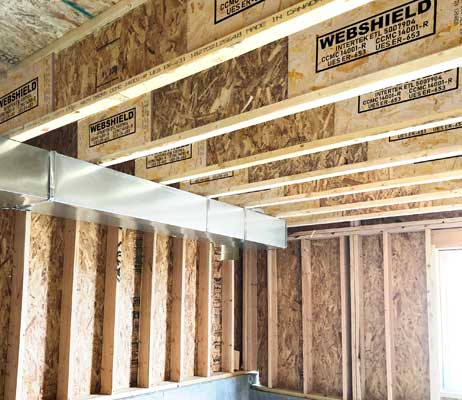 Trusses, engineered floor joists and engineered wood products in Olds.