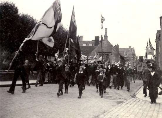 Mafeking Day parade, Half Moon Street, Sherborne, May 1900