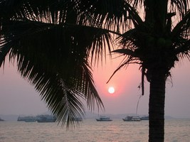Sunset over Pattaya