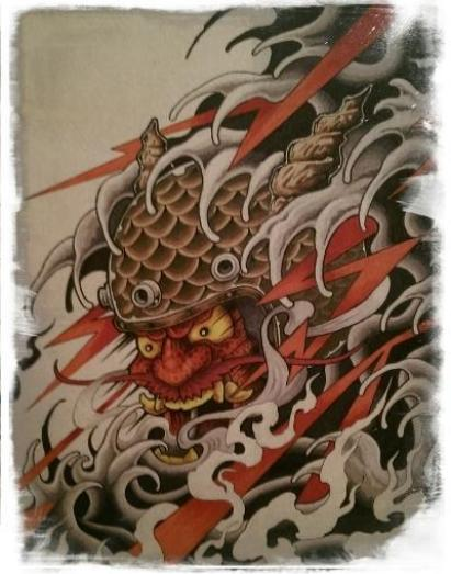 Ancient depiction of Hamna-shin