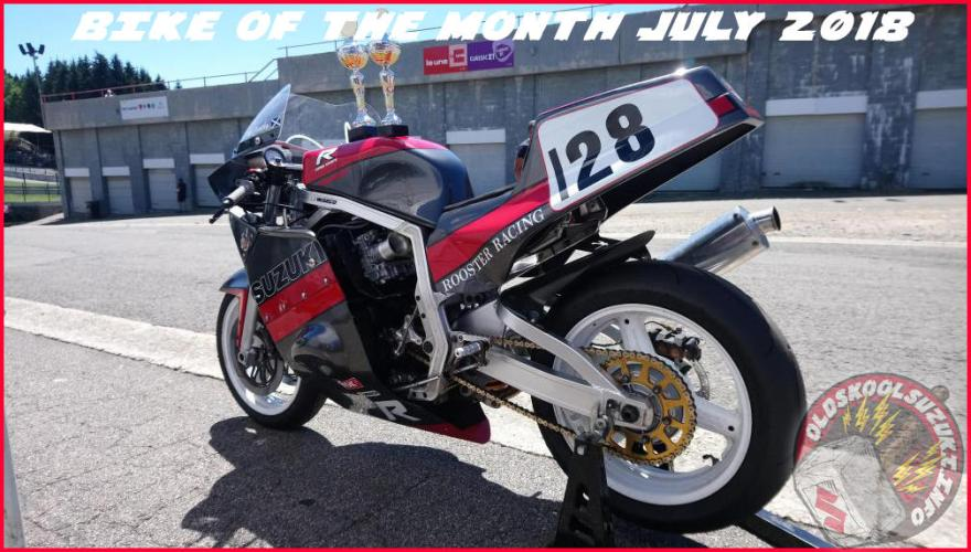 Adrian McCarthy's GSXR1100 Don Hill Rooster racing