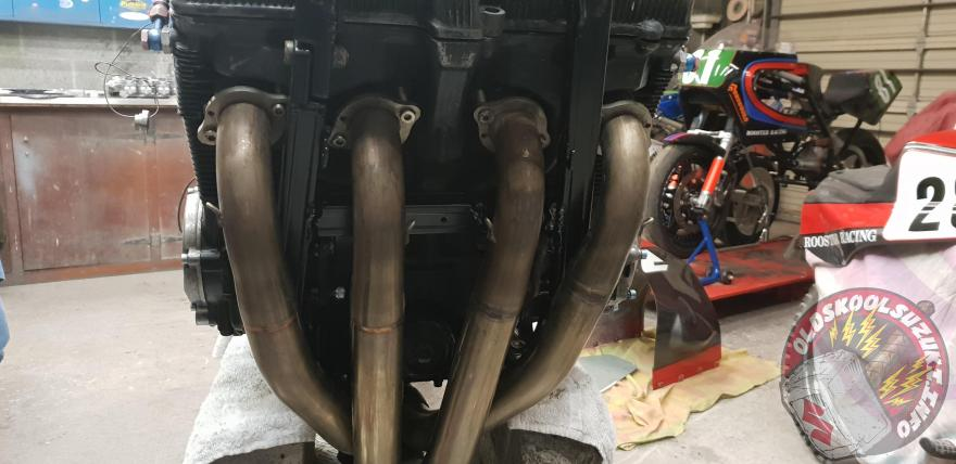 Rooster racing hand made GSXR exhaust