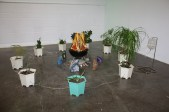 Clinic For Plants (a source for aid) Houseplants, minerals, rubber tubing, portable barbeque, LED lights, foam core and found objects Dimension variable 2015