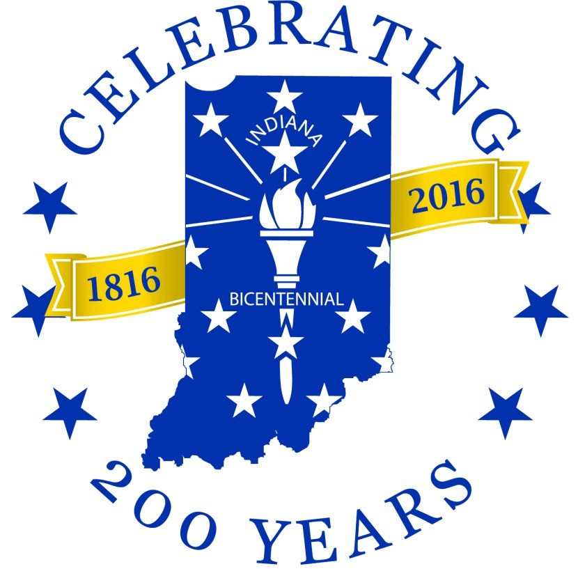Indiana State Logo Celebrating 200 Years
