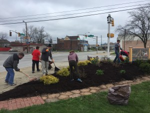 old southside 2017 great indy cleanup welcome garden landscaping