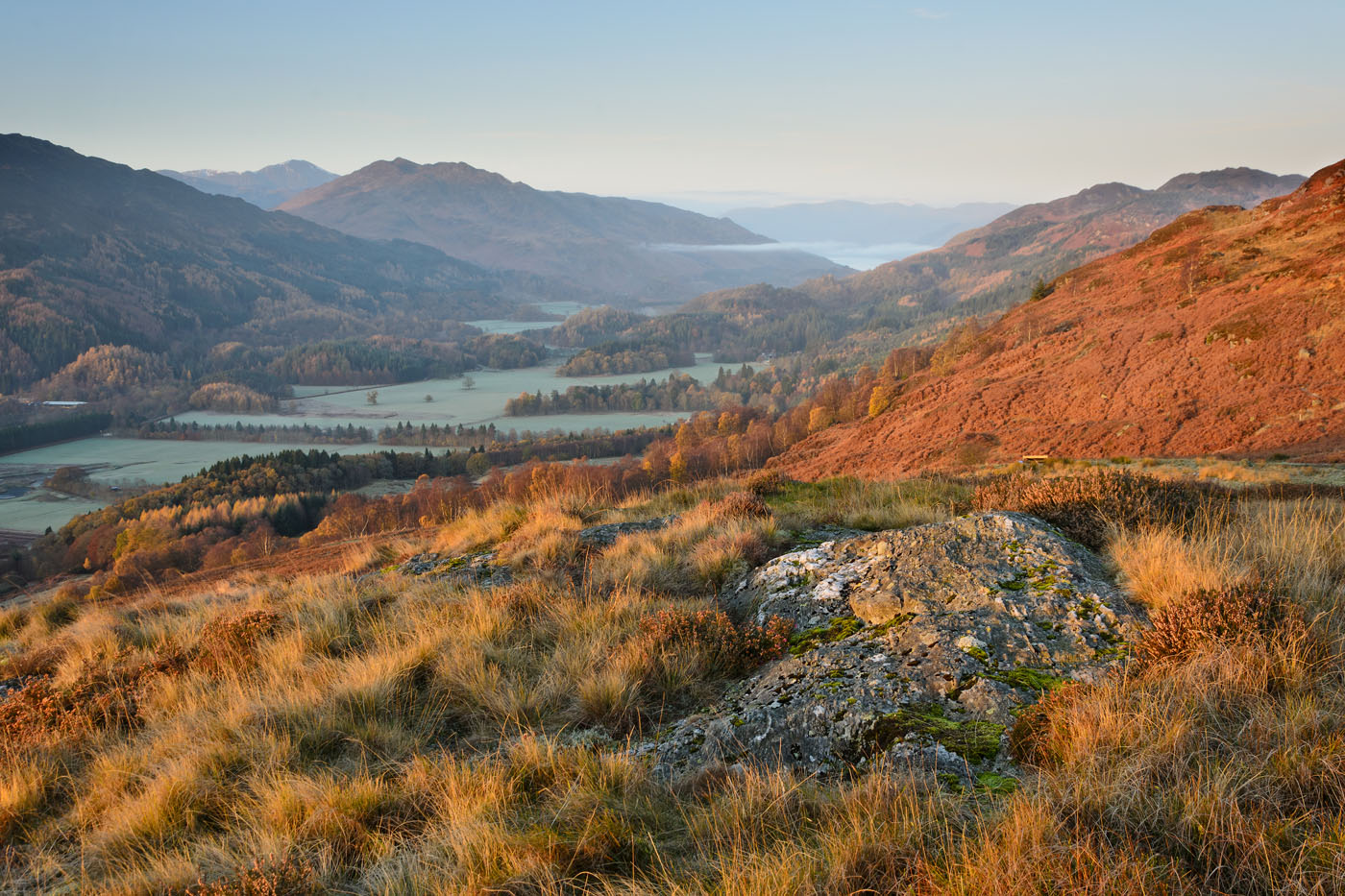 Strathearn Morning with Loch Earn in the Distance