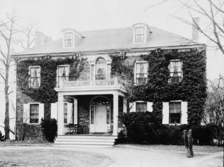 Federal-style stone mansion, Fort Hunter, Harrisburg Pennsylvania, Dauphin County, 1930s, old stone home