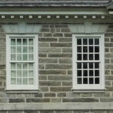 Symmetrical arrangement of windows, Cliveden, Philadelphia, old stone home