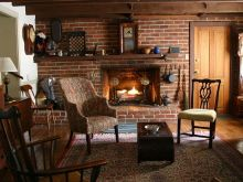 Historic 1780 Stone House Lexington Virginia, old stone homes, old stone houses, vacation homes, historic properties, living room design ideas
