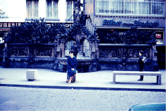 Judy in front of fountain 1969
