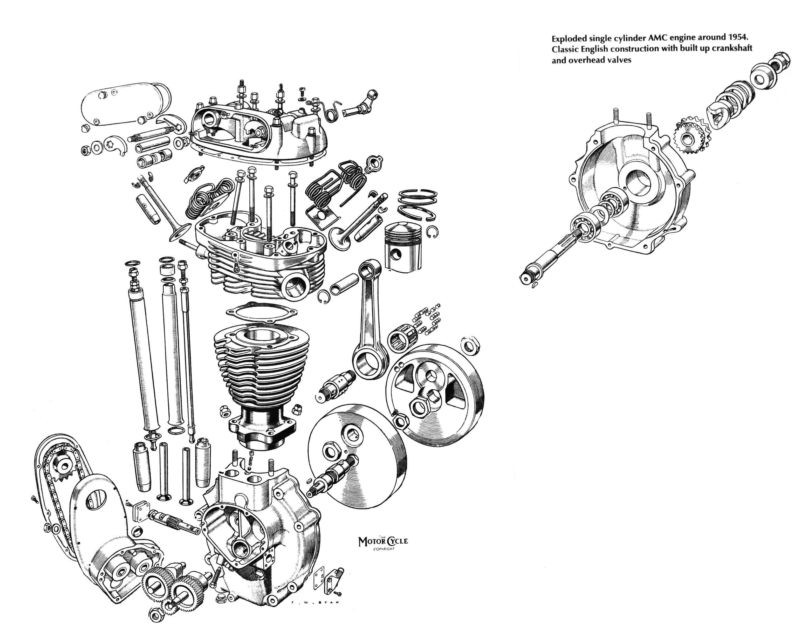 Exploded View Diagram Engine Color