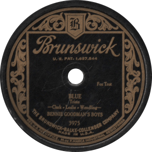 Blue, recorded by Bennie Goodman's Boys
