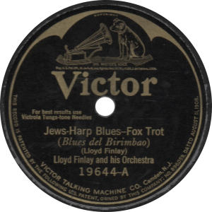 Jews-Harp Blues, recorded March 19, 1925 by Lloyd Finlay and his Orchestra