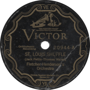 St. Louis Shuffle, recorded April 27, 1927 in New York by Fletcher Henderson's Orchestra.
