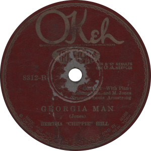 "Georgia Man, recorded February 23, 1926 by Bertha ""Chippie Hill."