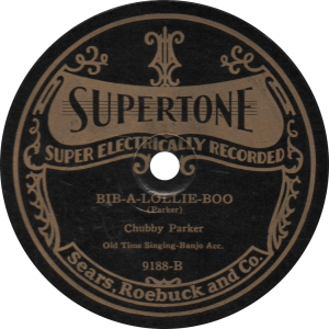 Bib-A-Lollie-Boo, recorded February 26, 1927 by Chubby Parker.