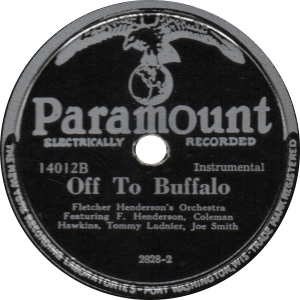 Off To Buffalo, recorded May 11, 1927 by Fletcher Henderson's Orchestra.
