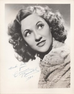 Connee Boswell in the late 1930s (autographed in 1940).