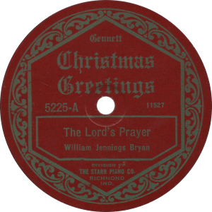 The Lord's Prayer, recorded