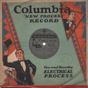 Columbia's custom sleeve and label dedicated to Ted Lewis.