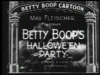 Betty Boop Hallowe'en Party