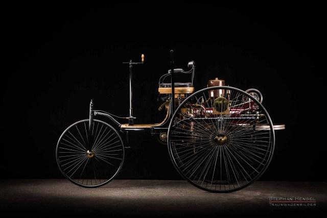 Benz Patent-Motorwagen Nr.1, Modell 1886, Oldtimerfotograf: Stephan Hensel, Hamburg, Oldtimer, Fotograf, das erste Auto der Welt