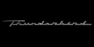 Ford Thunderbird Logo und Schriftzug seitlich am Kotflügel