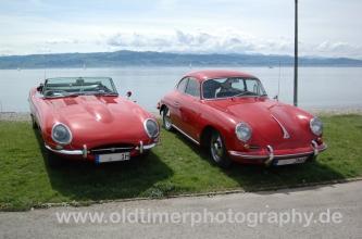 Jaguar E-Type Series 1 & Porsche 356 mit Kronprinz Felgen