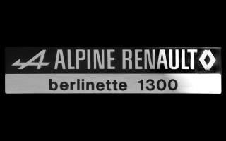 Logo ALPINE RENAULT Berlinette 1300