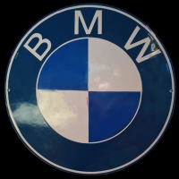 Logo BMW Emaille-Schild 1960er Jahre