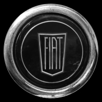 Logo Fiat 1500 Spider auf Lenkrad (1963-1966)