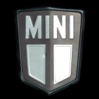 Logo Mini auf einem Lamm Cabrio