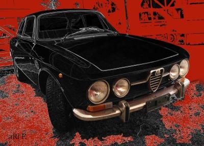 Alfa Romeo 1750 GT Veloce in black & red