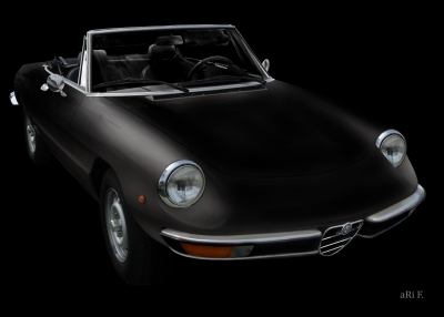 Alfa Romeo Spider in black & darkblack 01