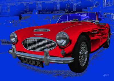 Austin-Healey 3000 Mk II in blue & red