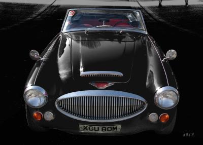 Austin-Healey 3000 Mark 3 BJ8 Poster in black