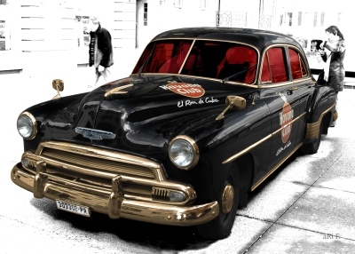 Poster Chevrolet Deluxe with Havana Club